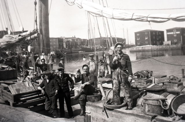 Onboard Banking Schooner in Grand Bank Harbour - 1940s