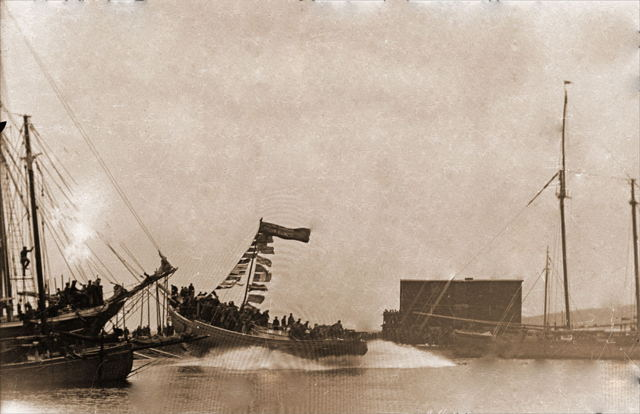 Schooner 'D.J. Thornhill' launching-Grand Bank-1934