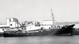Grand Bank side trawler 'Blue Mist' - lost with her 13 man crew Feb. 18, 1966.