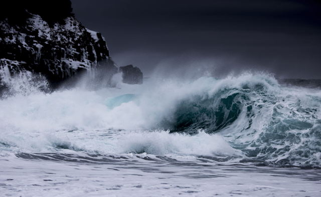 Waves at Middle cove