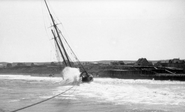 Schooner 'Democracy' - ashore at Fortune, NL - 1933