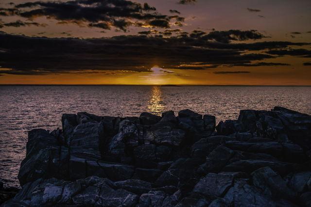 Sunset Over Breakwater