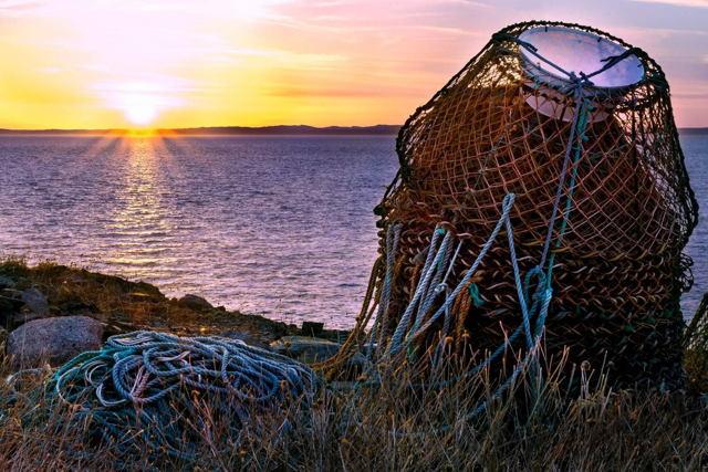 Crab Pots Sunset