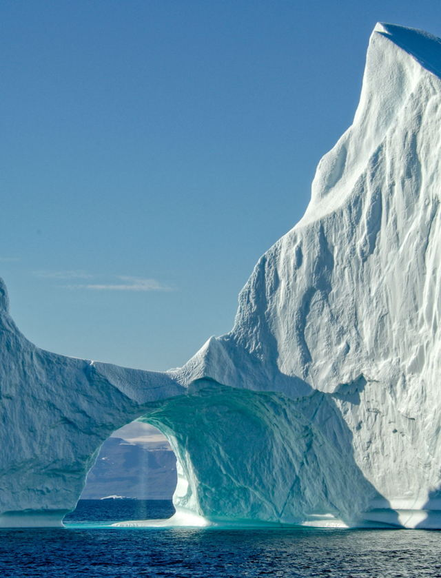 Arched Iceberg with Waterfall 2, Disko Bay, Greenland