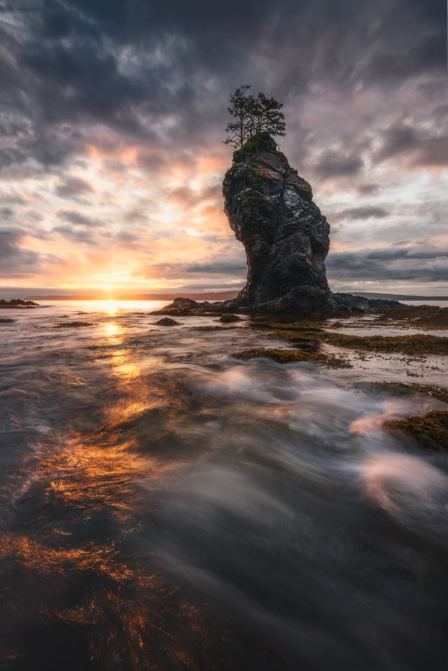 Sunrise Sea Stack Bellevue Beach