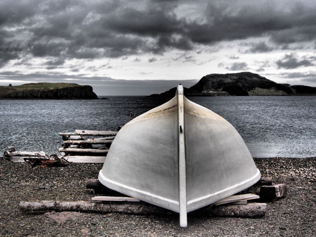Boat in Pease Cove