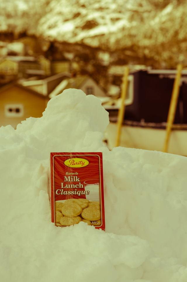 Newfoundland traditions. Milk lunch