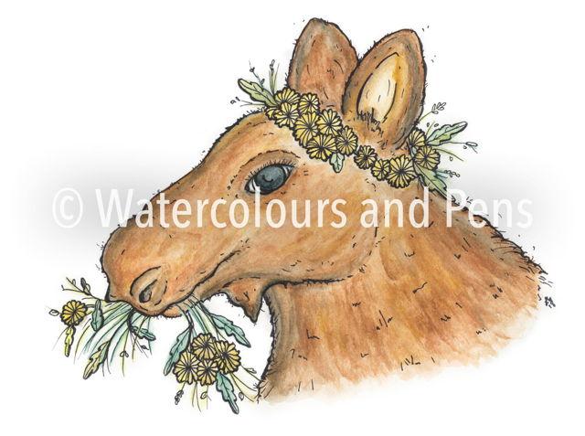 Flower Crown Moose