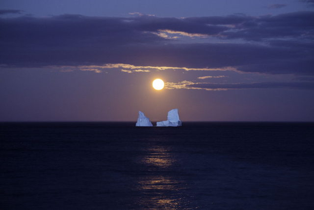 Iceberg Under Moonlight