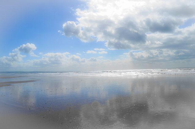 Reflection. Tywyn Beach, Wales
