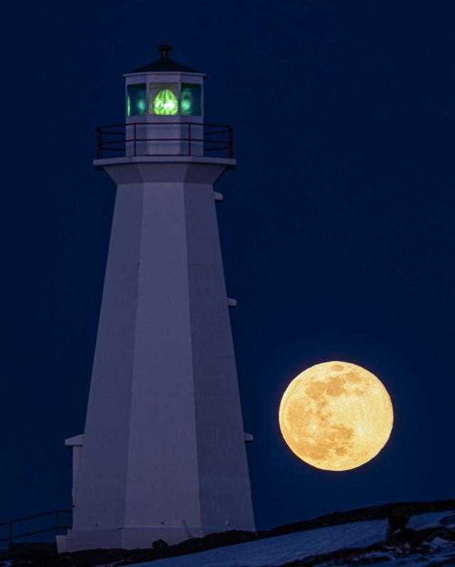 Cape Spear Super Moon
