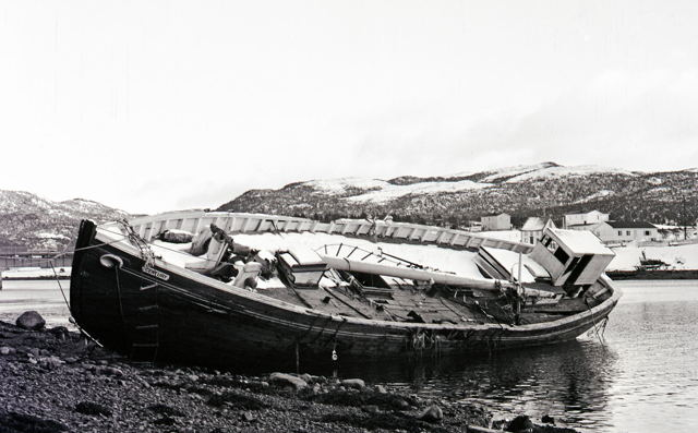 Schooner 'Catherine Mary Hann' built at Merasheen in 1926.