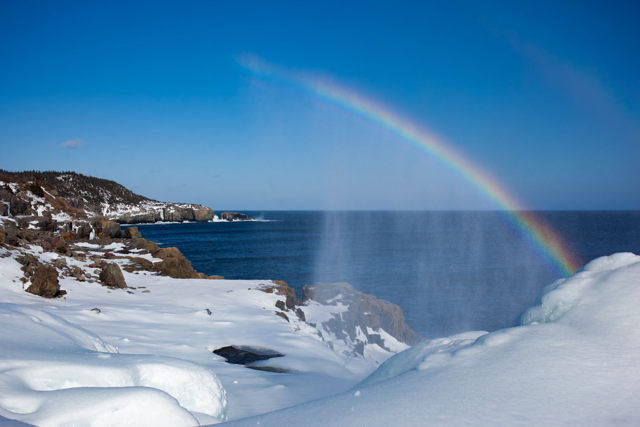 Winter Spout Rainbow