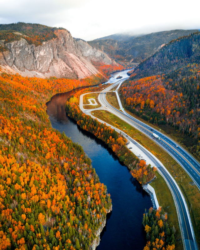 Fall over the Humber River