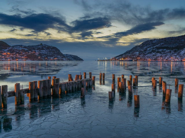 The Narrows and Signal Hill Before Sunrise