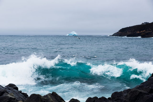 Crashing waves and an Iceberg