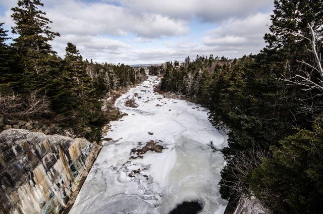 A frozen Manuels River
