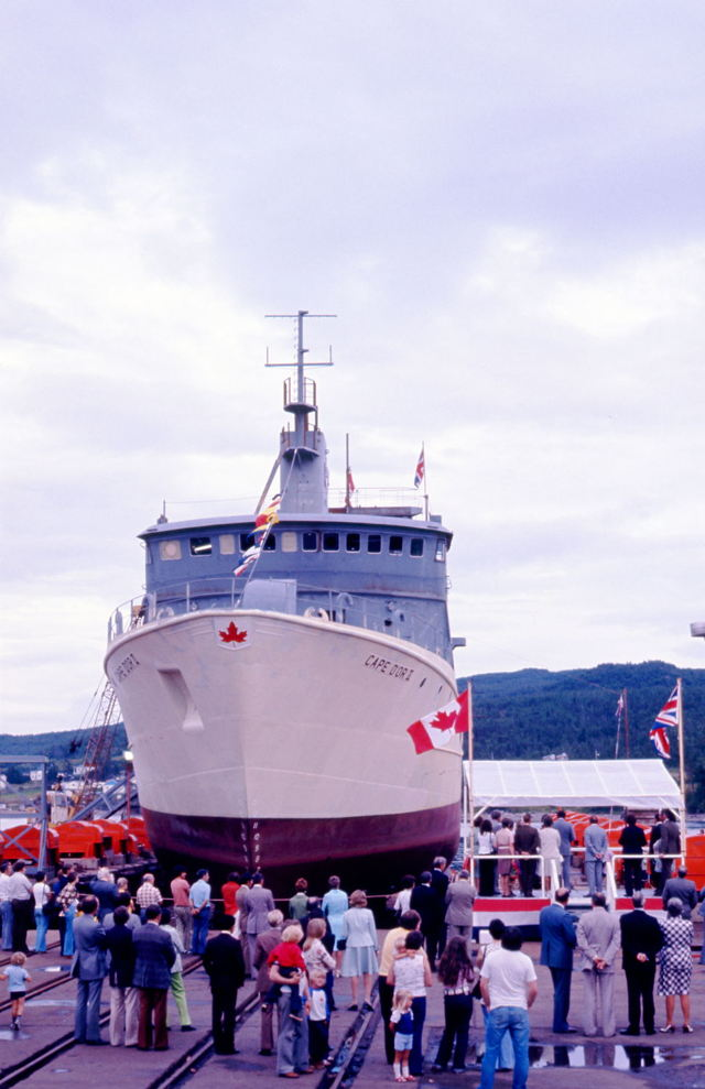 'Cape D'Or' - trawler christening at Marystown
