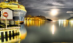 Milky Moon over the Harbour