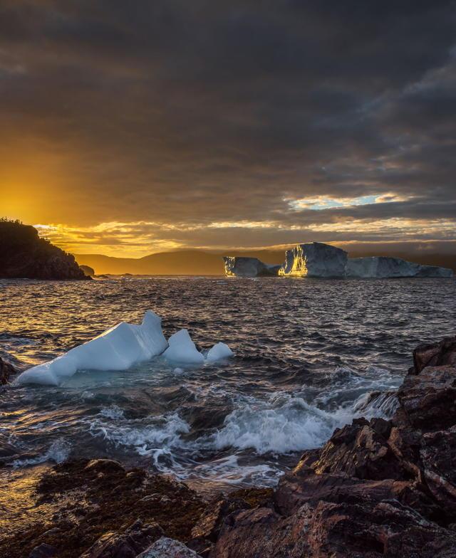 Brighton Iceberg Sunset v