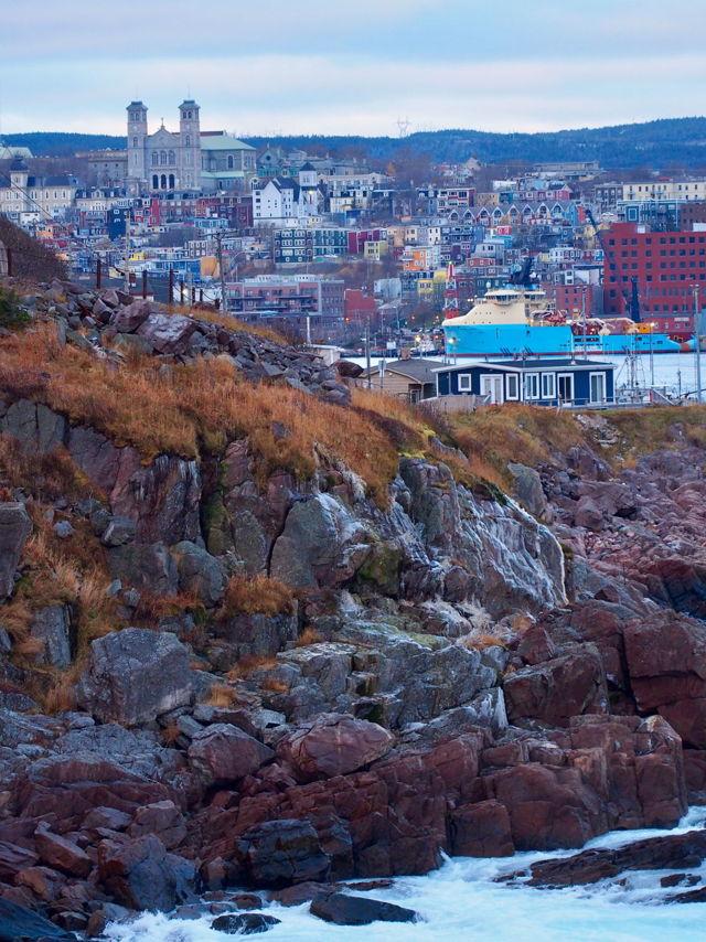 City on the rocks