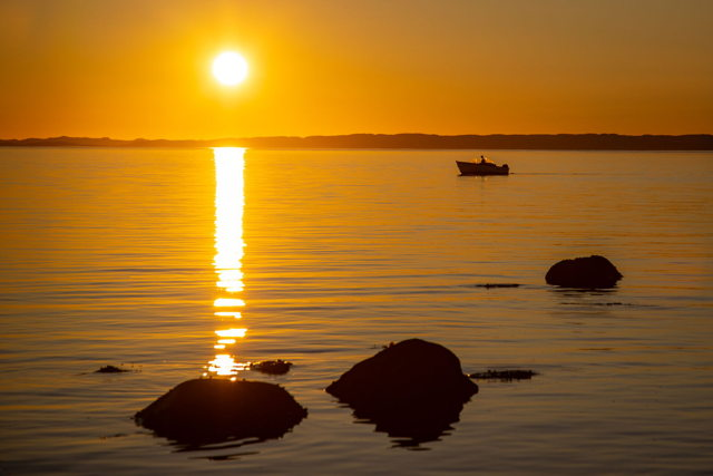 Sunset boater