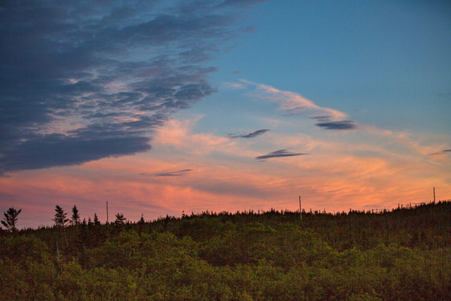 Late afternoon sky near Port aux Basques