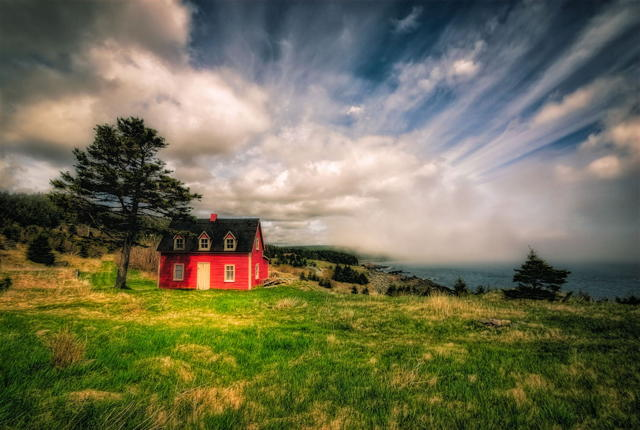 Red Salt Box House