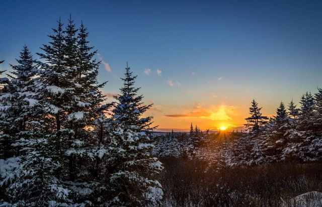 Sunset in Mount Pearl