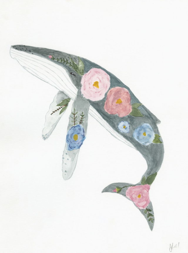 Whale of Flowers