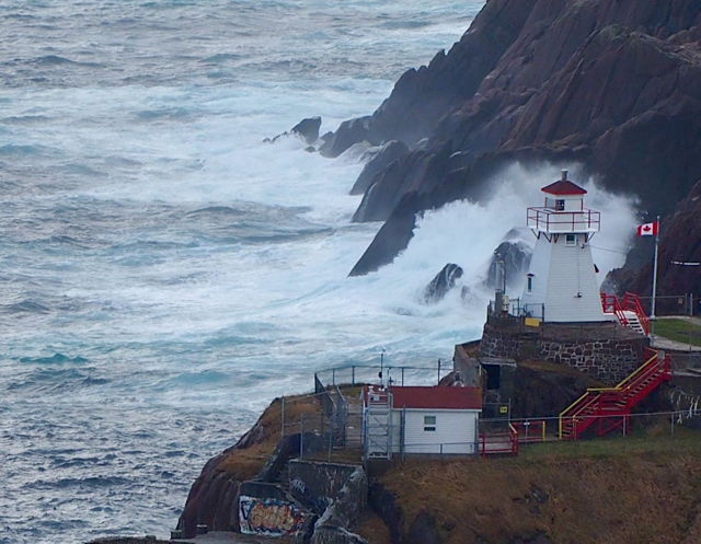 Fort Amherst and a huge wave