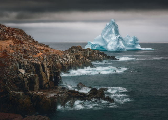 Giant Iceberg on the Coast