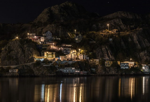 The Battery at night