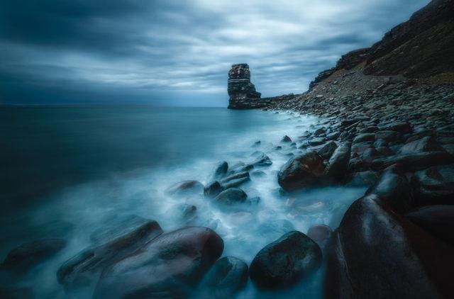 Moody Sea Stack
