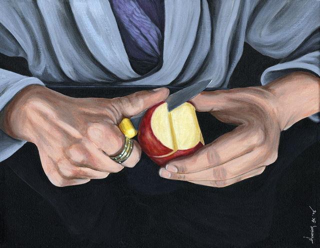 Working Hands - Apple Peeling