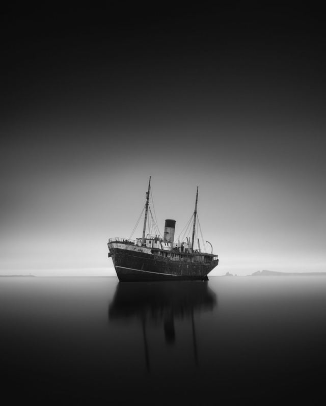 Ghost Ship Black and White