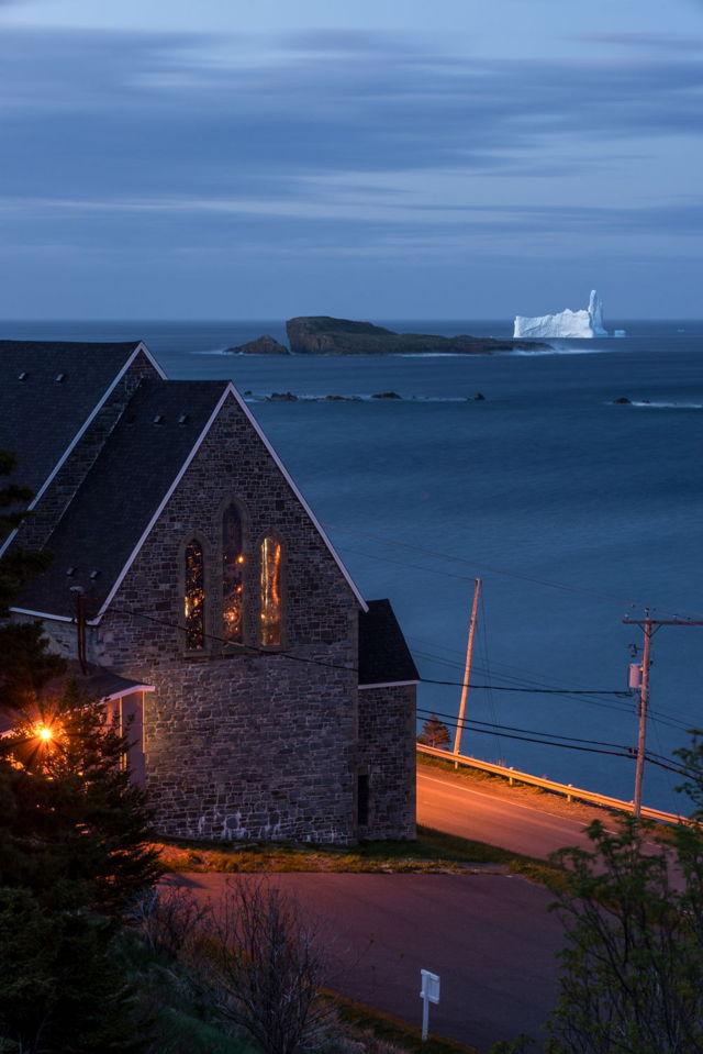 Ferryland Church and Iceberg