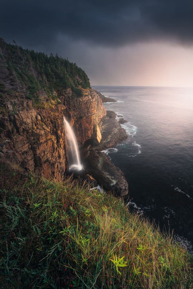 Sunrise at Stiles Cove Waterfall