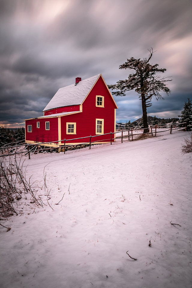 The Little Red House Wintertime