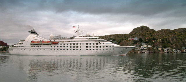 Cruise Ship - Seabourn Pride, St. John's Harbour