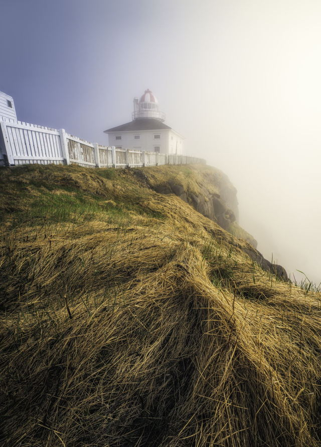 Foggy Old Cape Spear Lighthouse