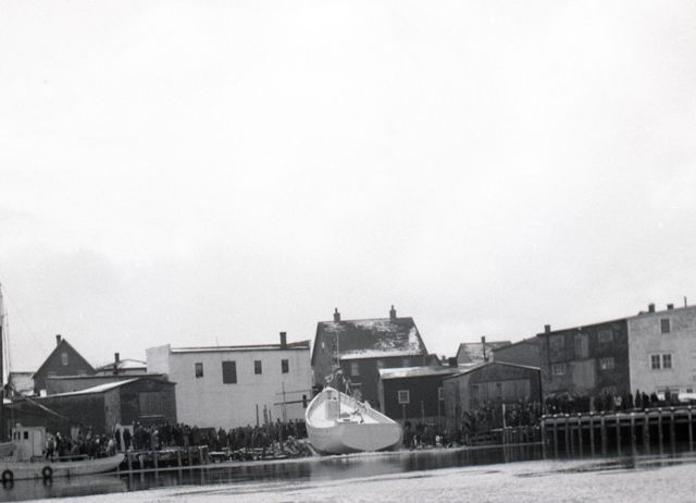 R and L Grandy Shipbuilding Boat Launch - Grand Bank - 1950s