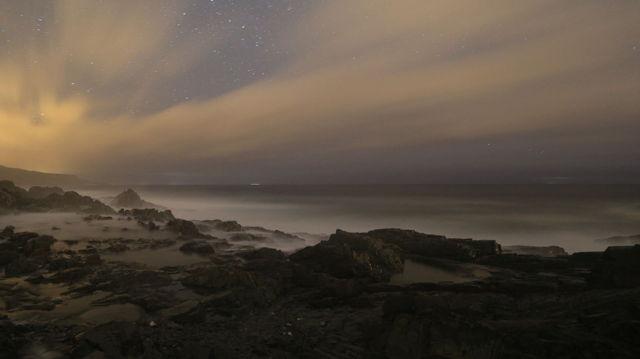 Coastline At Night