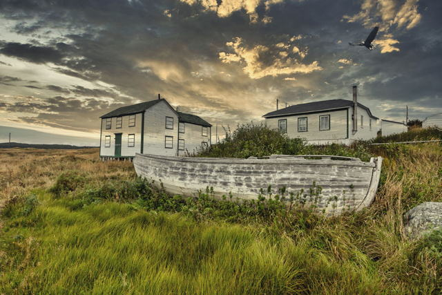 Old  Boat and House