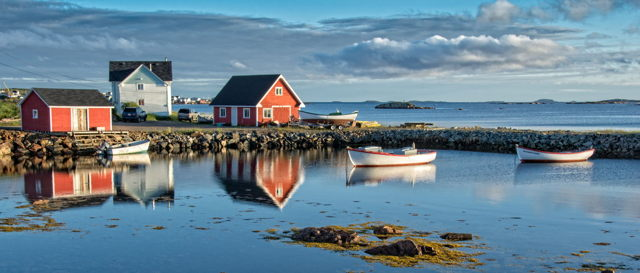 Fine Morning in Joe Batt's Arm, Fogo Island, Newfoundland