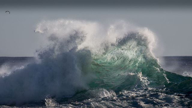 Collision of Waves at Middle Cove