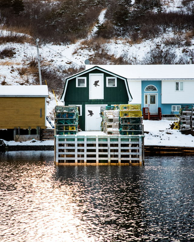 Trout River Fishing Stage in the Winter