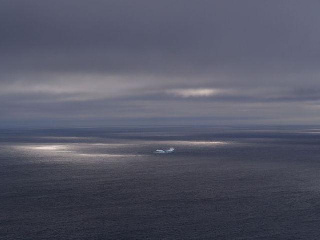 Iceberg and rays