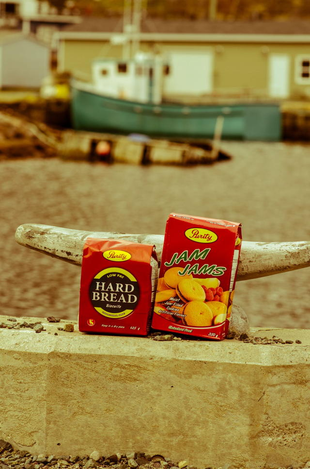 Newfoundland traditions. Jam Jams and Hard Bread