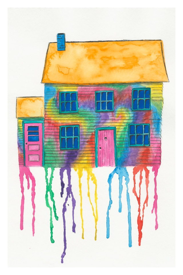 Tie Dye Saltbox House